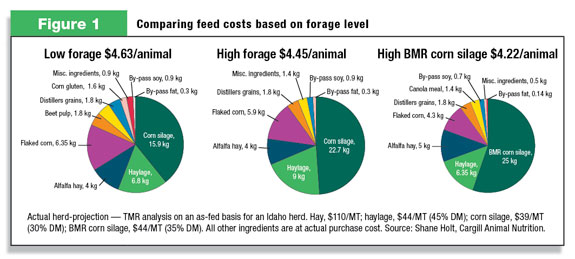Comparing feed costs based on forage level