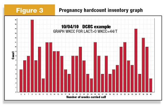 Pregnancy hardcount inventory graph dairy